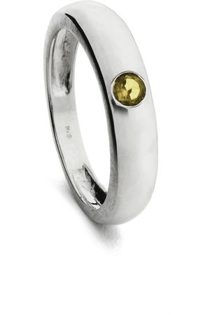 Coco & Kinney Women Rings - Citrine Amy Alexandra Ring in Silver