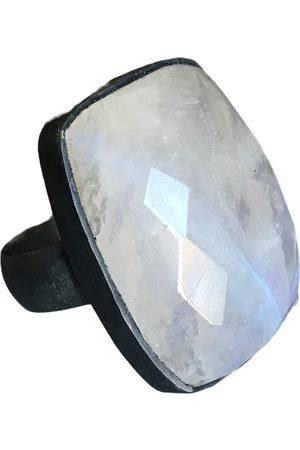 Window Dressing the Soul WDTS 925 - oxidised ring - Rainbow Moonstone
