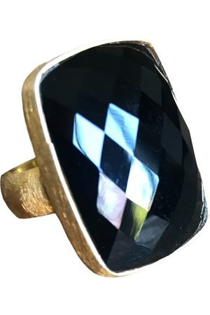 Window Dressing the Soul WDTS Gold plated silver - Onyx ring