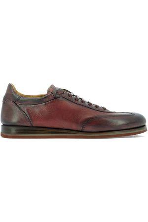 Fabi Men Sneakers - MEN'S FU9152 BURGUNDY LEATHER SNEAKERS