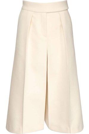 ALEXANDRE VAUTHIER Stretch Wool Wide Leg Bermuda Shorts
