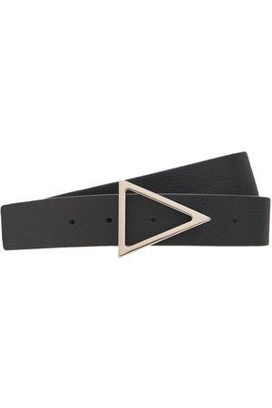 Bottega Veneta 3cm Triangle Buckle Leather Belt