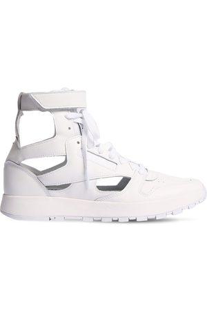 Maison Margiela Women Sneakers - 20mm Reebok Leather High-top Sneakers