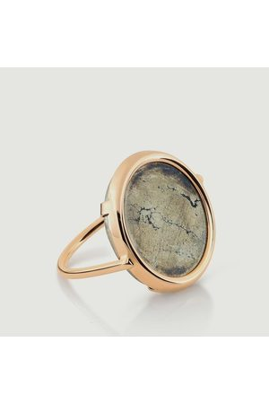 GINETTE NY Pyrite Ring Pink