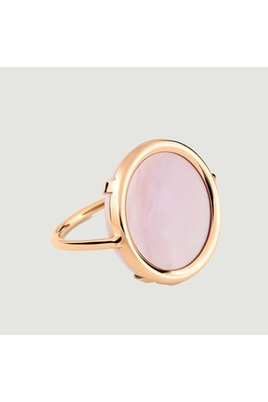 GINETTE NY Mother of Pearl Disc Ring Nacre Rose