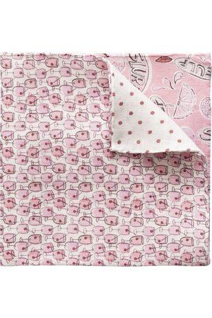 Eton Men Handkerchiefs - Four Prints Linen Pocket Square A0003301455