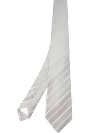 Kiton Men Neckties - MEN'S 1E324GRIGIO GREY SILK TIE