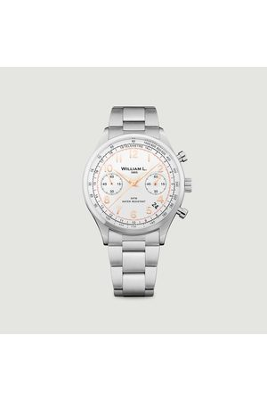 William L. Vintage Style Chronograph Watch Steel 1985