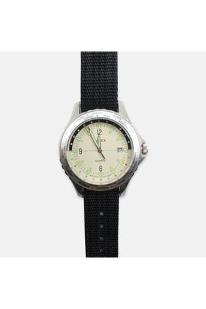 Time X Archive Men Watches - Timex Archive Navi World Time 38mm Fabric Strap Watch - Cream