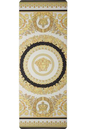 Versace White & Gold I Heart Baroque Yoga Mat