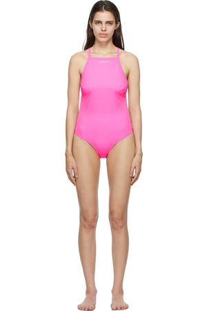 Balenciaga Pink Strappy One-Piece Swimsuit
