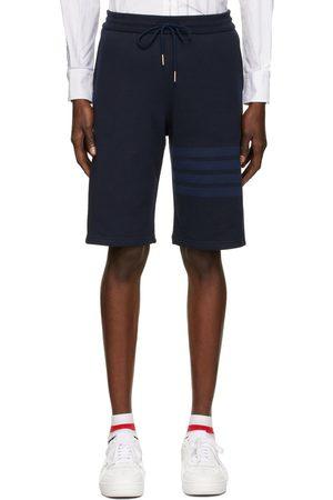 Thom Browne Navy Loopback 4-Bar Shorts