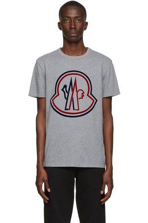 Moncler Grey Flocked Logo T-Shirt
