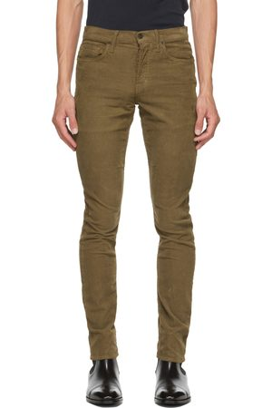 Men Jeans - TOM FORD Brown 12 Waves Wash Cord Jeans