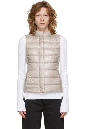 Women Body Warmers - Herno Off-White Down Guilia Vest