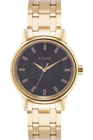 Sonata Men Black Bracelet Style Straps Analogue Watch 7134YM02