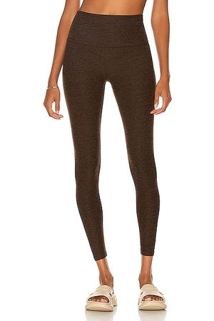 Beyond Yoga Spacedye Caught in the Midi High Waisted Legging in Chocolate Chip Espresso
