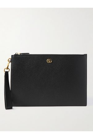 GUCCI Men Wallets - GG Marmont Full-Grain Leather Pouch