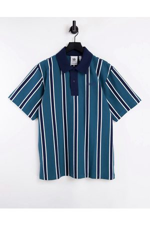 adidas Striped polo shirt in