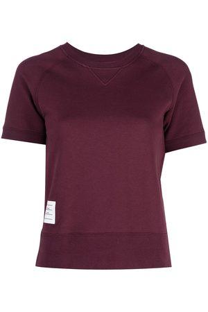 Thom Browne Women Sports sweatshirts - Logo patch short sleeve sweatshirt top