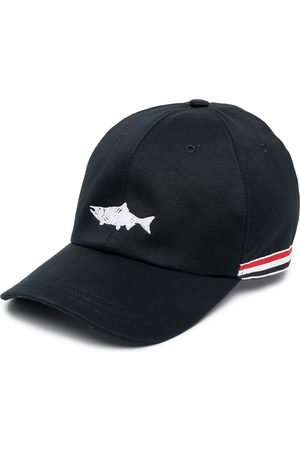 Thom Browne Embroidered fish baseball cap