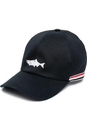 Thom Browne Men Hats - Embroidered fish baseball cap