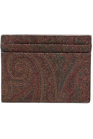 Etro Men Wallets - Paisley-print leather cardholder