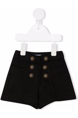 Balmain Double-breasted button shorts
