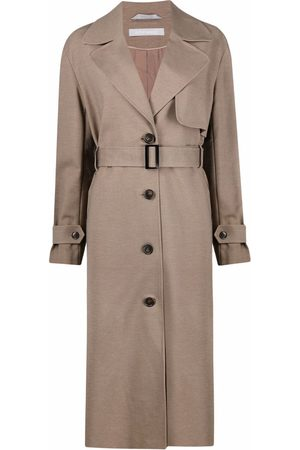 12 STOREEZ Women Trench Coats - Belted button-up trench coat
