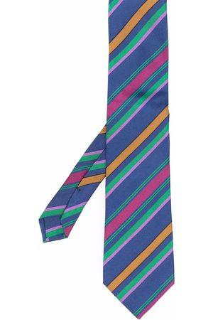 Etro Men Bow Ties - Striped cotton-silk tie