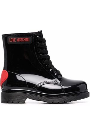 Love Moschino Heart-motif lace-up boots