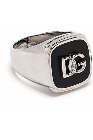 Dolce & Gabbana Men Rings - Debossed logo signet ring