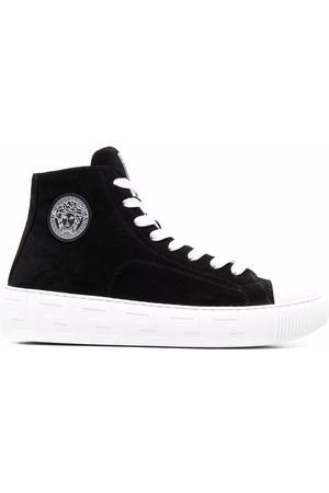 VERSACE Greca high-top lace-up sneakers