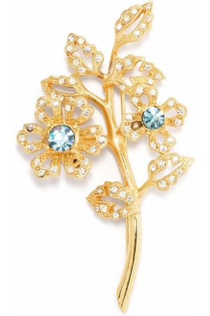 Givenchy Pre-Owned Women Pins - 1990s crystal-embellished leaf brooch