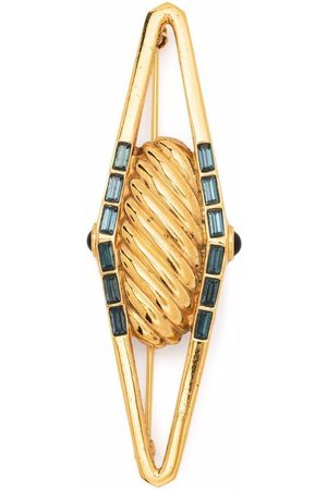 Lanvin 1980s gemstone-embellished twist brooch