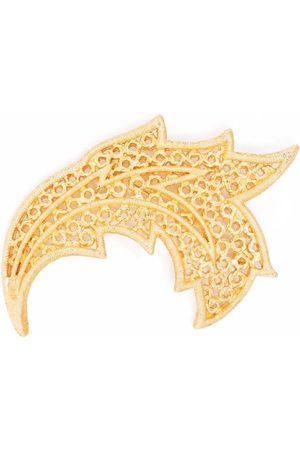 Dior 1980s pre-owned textured leaf brooch