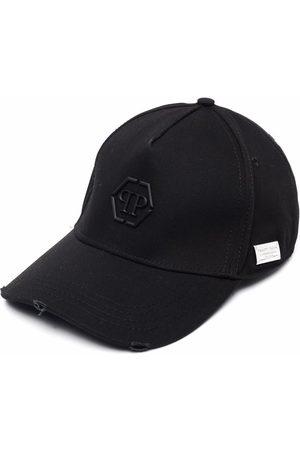 Philipp Plein Hexagon logo distressed cap