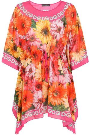 Dolce & Gabbana Women Printed Dresses - Logo-print floral-detail dress
