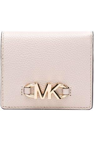 Michael Kors Logo-plaque leather wallet