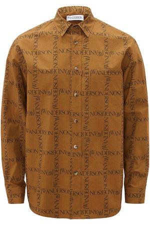 J.W.Anderson Logo grid pattern shirt