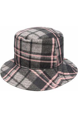 Alberta Ferretti Women Hats - Logo-plaque checked bucket hat