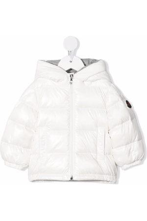 Moncler Jackets - Logo-print padded hooded down jacket