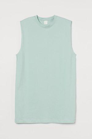 H&M Sleeveless jersey dress - Turquoise