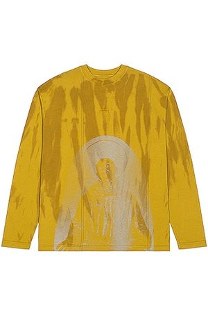 A-cold-wall* Overdyed Print Long Sleeve Tee in Chartreuse
