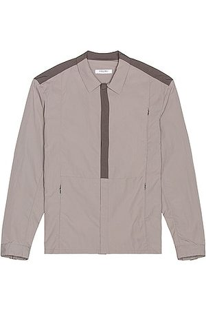 A-cold-wall* Arcane Panelled Shirt in Mortar Grey