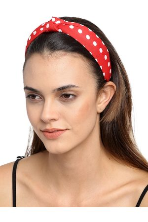 YouBella Red & White Polka Dotted Hairband