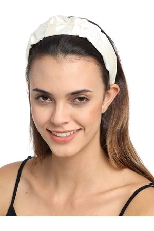 YouBella Women Hair Accessories - Women White Solid Hairband