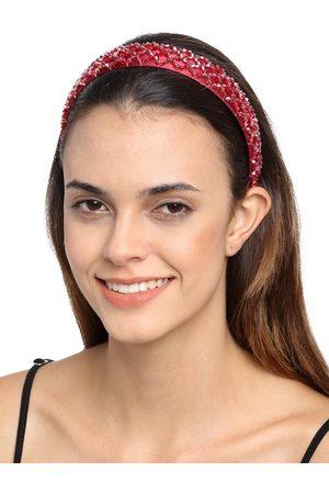 YouBella Red Embellished Hairband