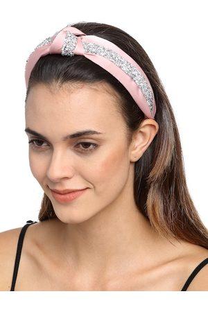YouBella Pink Embellished Hairband
