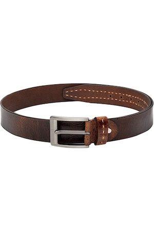 Teakwood Leathers Men Brown Solid Belt